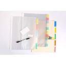 Marbig divider pp A4 10 tab pocket coloured