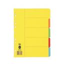 Marbig dividers manilla A4 5 tab bright