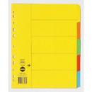 Marbig divider manilla A4 5 tab extra wide bright