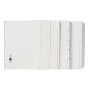 Marbig dividers manilla A4 10 tab white