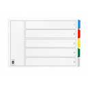 Marbig dividers landscape pp A3 5 tab coloured