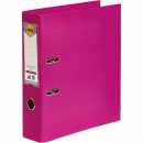 Marbig linen lever arch file PE A4 pink