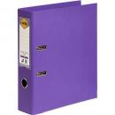 Marbig linen lever arch file PE A4 purple