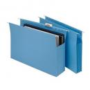 Marbig expanding suspension files foolscap blue box 20