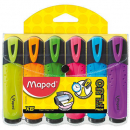 Maped highlighters fluo peps wallet 6