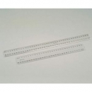 Marbig plastic ruler 40cm clear