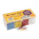 Marbig paper clips large 33mm box 800 coloured