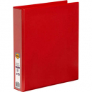 Marbig insert binder A4 2 ring 38mm red