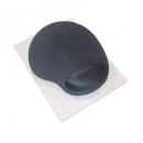 Aurora mouse pad supergel with wrist rest steel grey