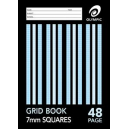 Grid book stapled A4 48 page 7mm grid