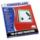 Cumberland sheet protector A4 copy safe 40 micron box 100
