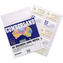 Cumberland executive business card file refills A4 pack 10