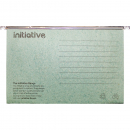 Initiative easyglide suspension Files with tabs and Inserts foolscap green box 50