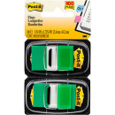 Post-it flags green twin pack 100