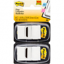 Post-it flags white twin pack 100