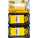 Post-it flags yellow twin pack 100