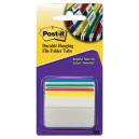 Post-it durable filing tabs angled 4 assorted colours pack 24