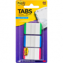 Post-it durable filing tabs white with green, blue, red edges pack 66