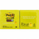 Post-it pop-up notes 76mm x 76mm super sticky bora bora pack 6