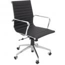 Rapidline executive chair medium back infinite tilt lock chrome frame pu black