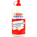 Glue pva drys clear white 1 litre