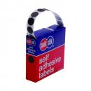 Quikstik dispenser labels circle 14mm pack 1050 black
