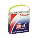 Quikstik dispenser labels circle 14mm pack 700 fluro yellow