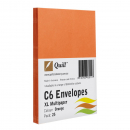 Quill 93011 coloured envelope C6 pack 25 orange
