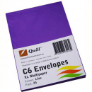 Quill 93016 coloured envelopes C6 pack 25 lilac