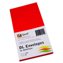 Quill 94010 coloured envelopes DL pack 25 red