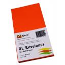 Quill 94011 coloured envelope DL pack 25 orange
