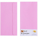 Quill 94013 coloured envelope DL pack 25 musk