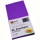 Quill 94016 coloured envelopes DL pack 25 lilac