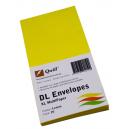 Quill 94019 coloured envelopes DL pack 25 lemon