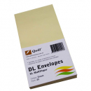 Quill 94020 coloured envelopes DL pack 25 cream