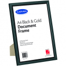 Carven document frame A4 black / gold