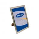 Carven document frame A4 brushed silver