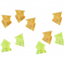 Quartet magnet triangles extra strong green and orange pack 10