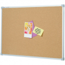 Penrite quartet aluminium framed corkboard 600 x 600mm