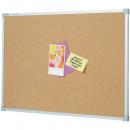 Penrite quartet aluminium framed corkboard 900 x 900mm
