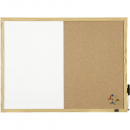 Quartet economy corkboard whiteboard combo 900 x 600mm