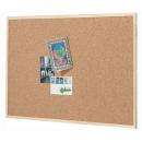 Quartet economy woodframe cork board 450 x 600mm