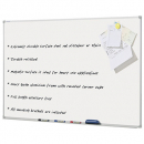 Penrite wall mounted aluminium framed magnetic whiteboard 900 x 900mm