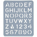 Esselte letter stencil 40mm