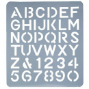 Esselte letter stencil 75mm