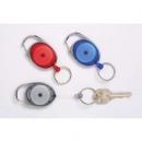 Rexel retractable key holder snap lock grey