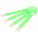 Rexel 9861104 tyvek wristbands with serial number fluoro green pack 100