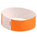 Rexel tyvek wristbands with serial number fluro orange pack 100