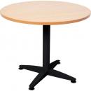 Rapid span 4 star round table black pedestal base 900mm beech