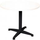 Rapid span 4 star round table black pedestal base 900mm warm white